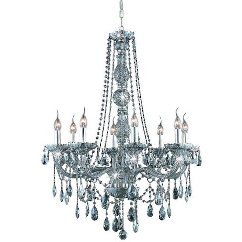 Elegant Lighting 7958D28SS-SS Verona 8-Light, Single-Tier Crystal Chandelier, Finished in Silver Shade - image 1 of 1
