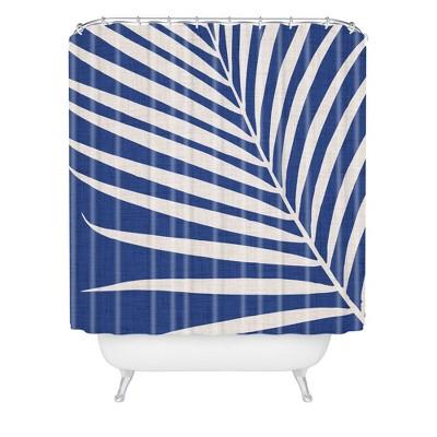Modern Tropical Vintage Indigo Palm Shower Curtain Blue - Deny Designs