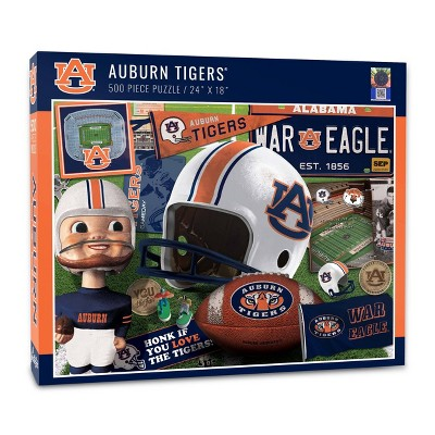 NCAA Auburn Tigers Throwback Puzzle 500pc