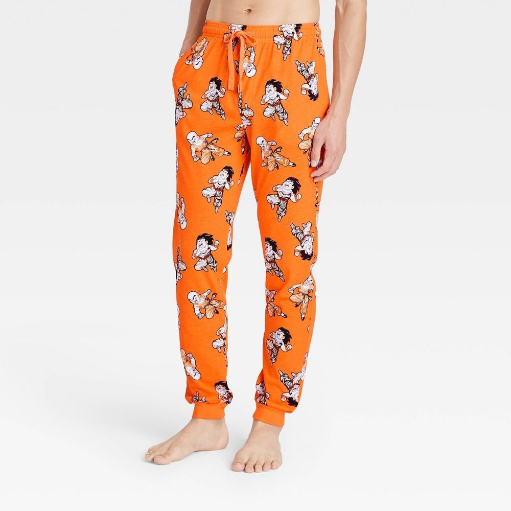 Men 39 S Dragon Ball Z Pajama Pants Orange L