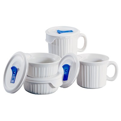 Corningware 8 Piece Popins Set- White