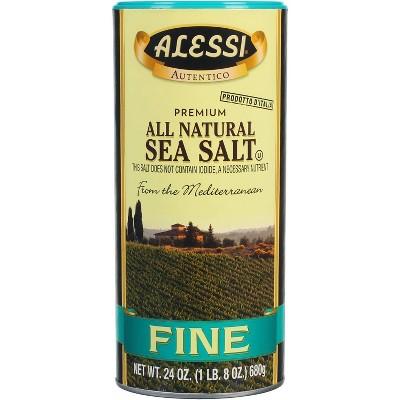 Alessi 100% Natural Fine Sea Salt - 24oz