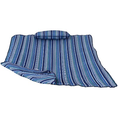 Cotton Quilted Hammock Pad and Pillow - Breakwater Stripe - Sunnydaze Decor
