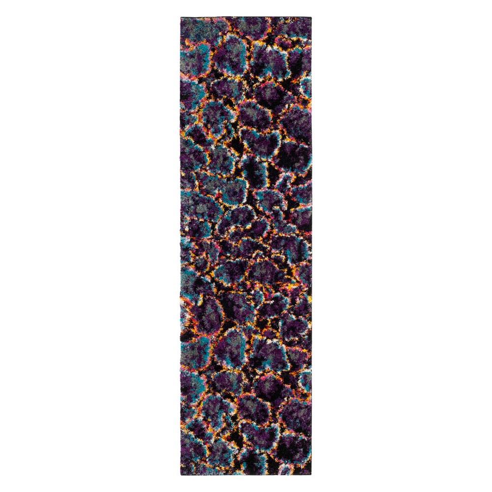 22X8 Splatter Loomed Runner Turquoise - Safavieh Buy