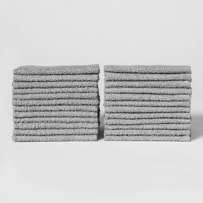 24pk Washcloth Set Gray Mist - Room Essentials™