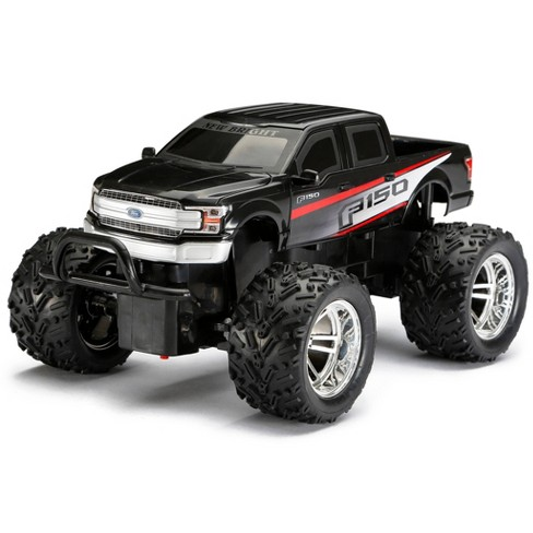 New Bright Remote Control RC FF Chargers Ford F150 Truck - Black - 1:18 Scale - image 1 of 4