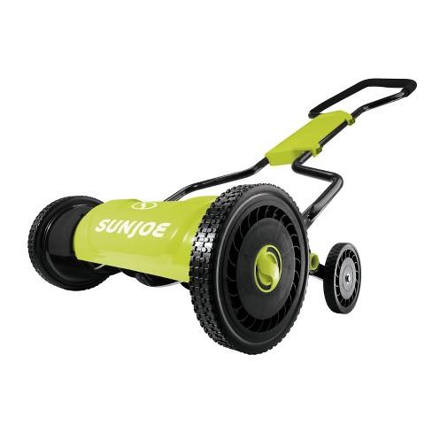 Sun Joe MJ1800M 18-Inch Quad-Wheel, 5-Position, Razor Sharp Cutting Blade, Silent Push Reel Mower - image 1 of 4
