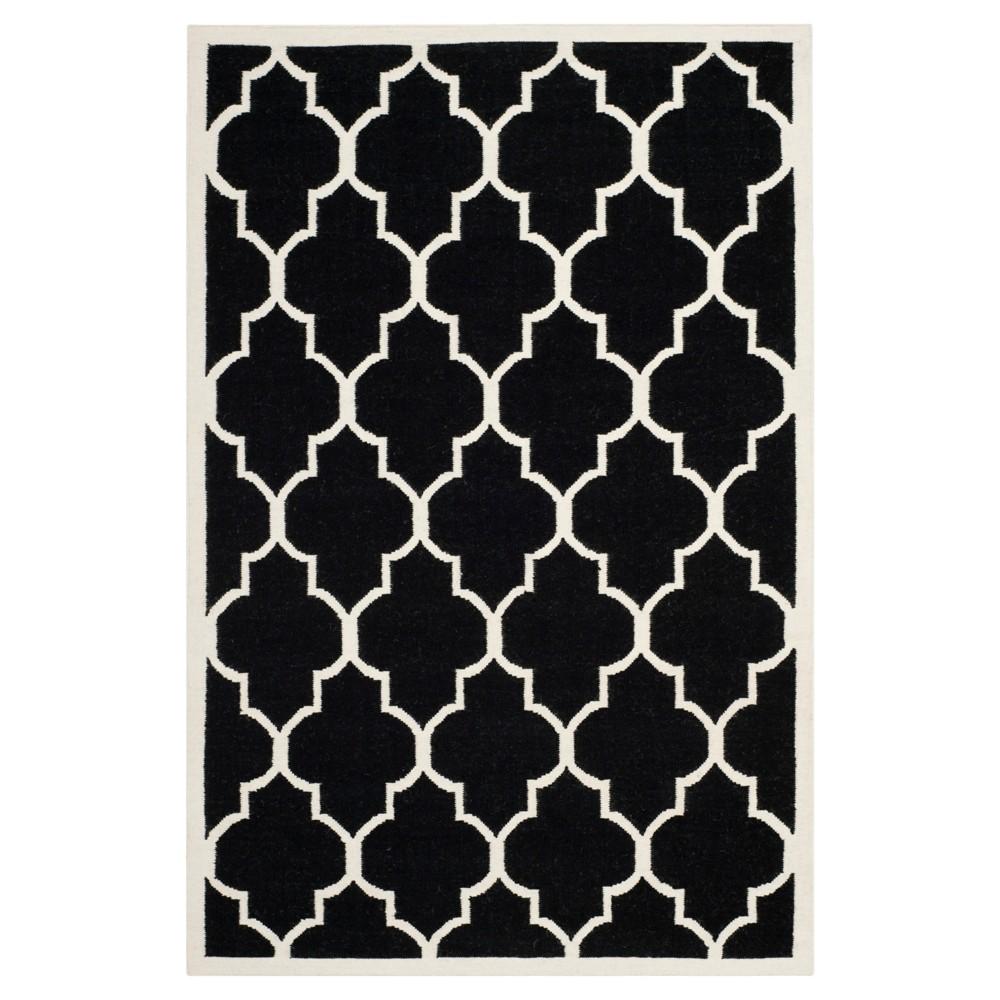 Alarice Dhurry Rug - Black/Ivory - (8'x10') - Safavieh