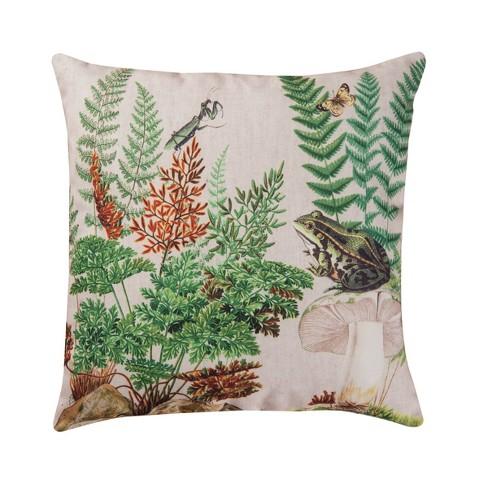 C F Home 18 X 18 Fern Frog Indoor Outdoor Decorative Throw Pillow Target