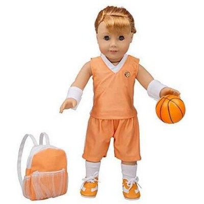 Dress Along Dolly Basketball Uniform Outfit for American Girl Doll