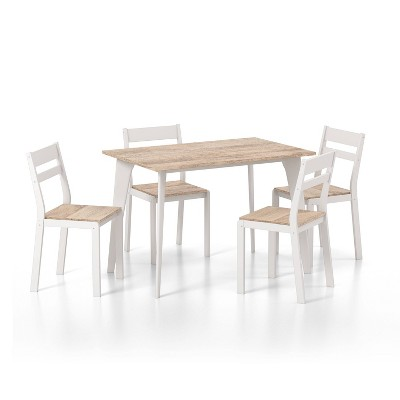5pc Miley Ladder Back Dining Table Set - HOMES: Inside + Out