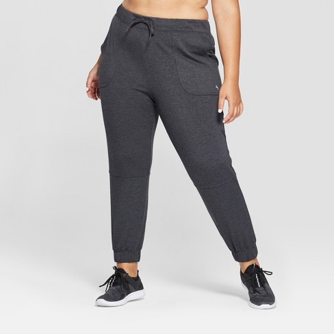 1fea1a055a4 Women s Plus Drawstring Pants - JoyLab™ Charcoal Heather   Target