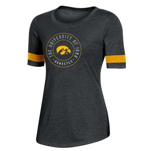 NCAA Iowa Hawkeyes Women's Short Sleeve Crew Neck T-Shirt - image 1 of 2