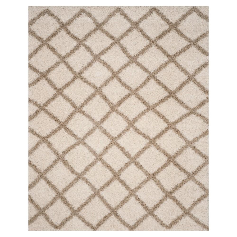 Ivory/Beige Geometric Loomed Area Rug - (8'X10') - Safavieh