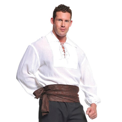Men's Pirate Shirt Costume - White - image 1 of 1
