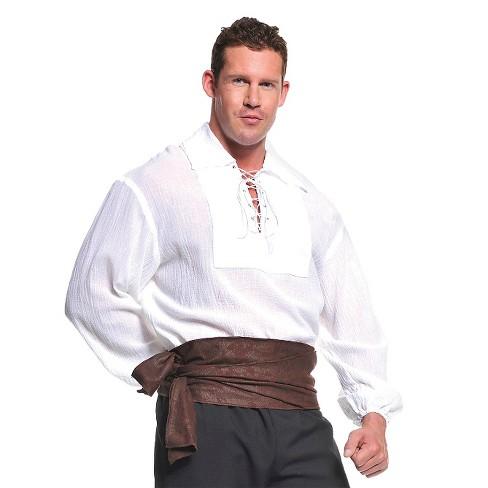 3f7d0e3cc Men's Pirate Shirt Costume - White : Target
