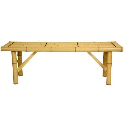 Japanese Bamboo Folding Bench - Oriental Furniture