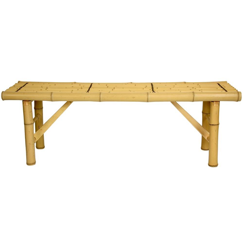 Japanese Bamboo Folding Bench Light Desert - Oriental Furniture