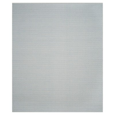 Ivory/Light Blue Geometric Flatweave Woven Area Rug 5'X7' - Safavieh