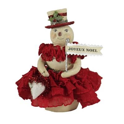 "Christmas 5.5"" Rosalie Snowman Joyeux Noel  -  Decorative Figurines"
