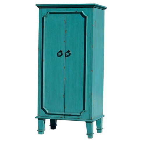 Cabby Jewelry Armoire Turquoise - Hives & Honey - image 1 of 4