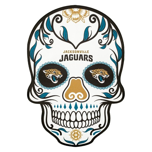 NFL Jacksonville Jaguars Small Outdoor Skull Decal - image 1 of 2