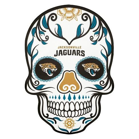 nfl jacksonville jaguars small outdoor skull decal target