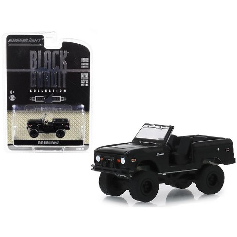 """1969 Ford Bronco (Doors Removed) """"Black Bandit"""" Series 21 1/64 Diecast Model Car by Greenlight - image 1 of 1"""