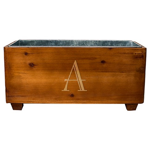 Cathy's Concepts Personalized Wooden Wine Trough A-Z - image 1 of 4