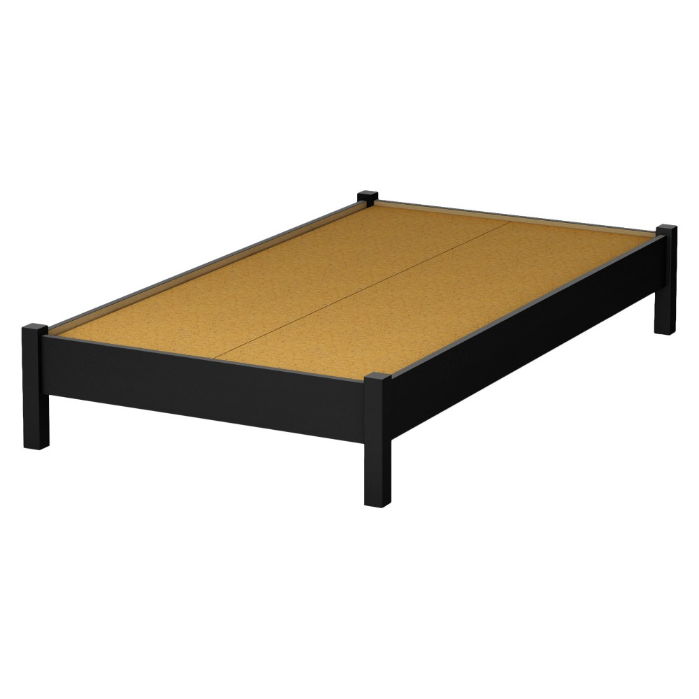 Step One Platform Bed - Twin - Pure Black - South Shore