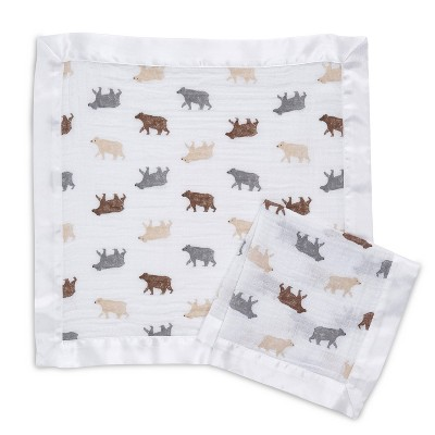 Aden + Anais Essentials Muslin Security Blanket - Bear necessities 2pk