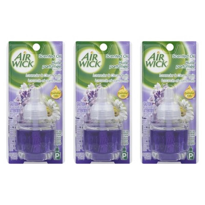 Air Wick Scented Oils - Lavender and Chamomile - .67 oz.- 3 Pack