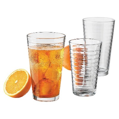 Libbey® 12pc Textured Glass Assorted Tumblers