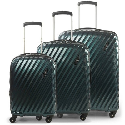 FUL Marquise Series 3pc Hardside Spinner Luggage Set - Teal