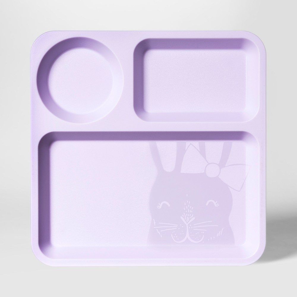 "Image of ""10"""" Plastic Kids Square Divided Plate Purple - Pillowfort"""