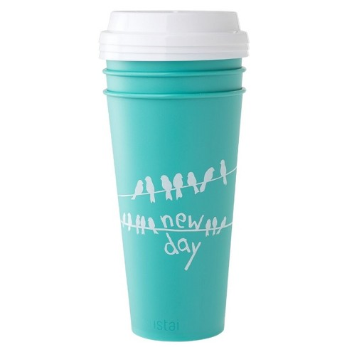 Aladdin 20oz 3pk Reusable To-Go Cups Teal - image 1 of 2