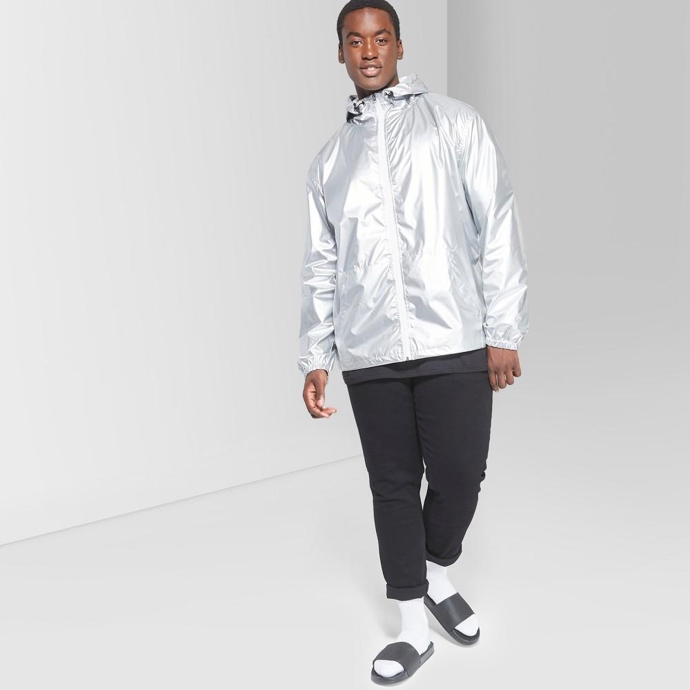 Men's Big & Tall Long Sleeve Full Zip Anorak Jacket - Original Use Flat Gray 4XB