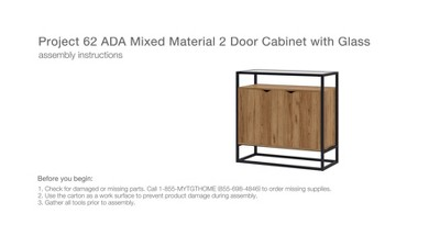 Ada Mixed Material 2 Door Cabinet With Glass - Project 62™ : Target