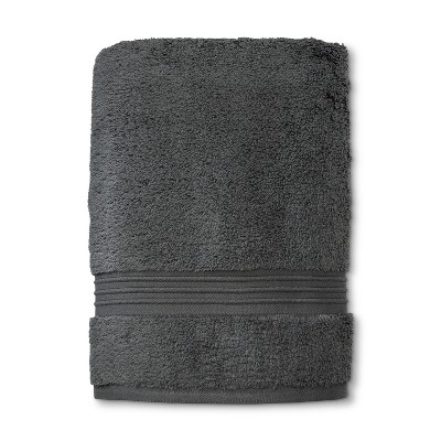 MicroCotton Spa Bath Towel Dark Gray - Fieldcrest®