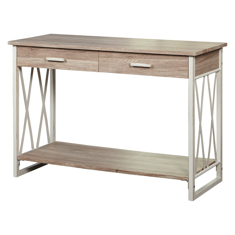 Seneca XX Sofa Table White/Natural - Buylateral was $157.99 now $102.69 (35.0% off)