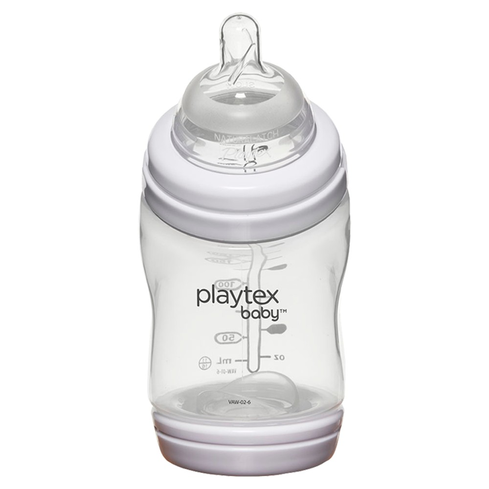 Image of Playtex Baby VentAire Complete Tummy Comfort 6oz Baby Bottle, Clear