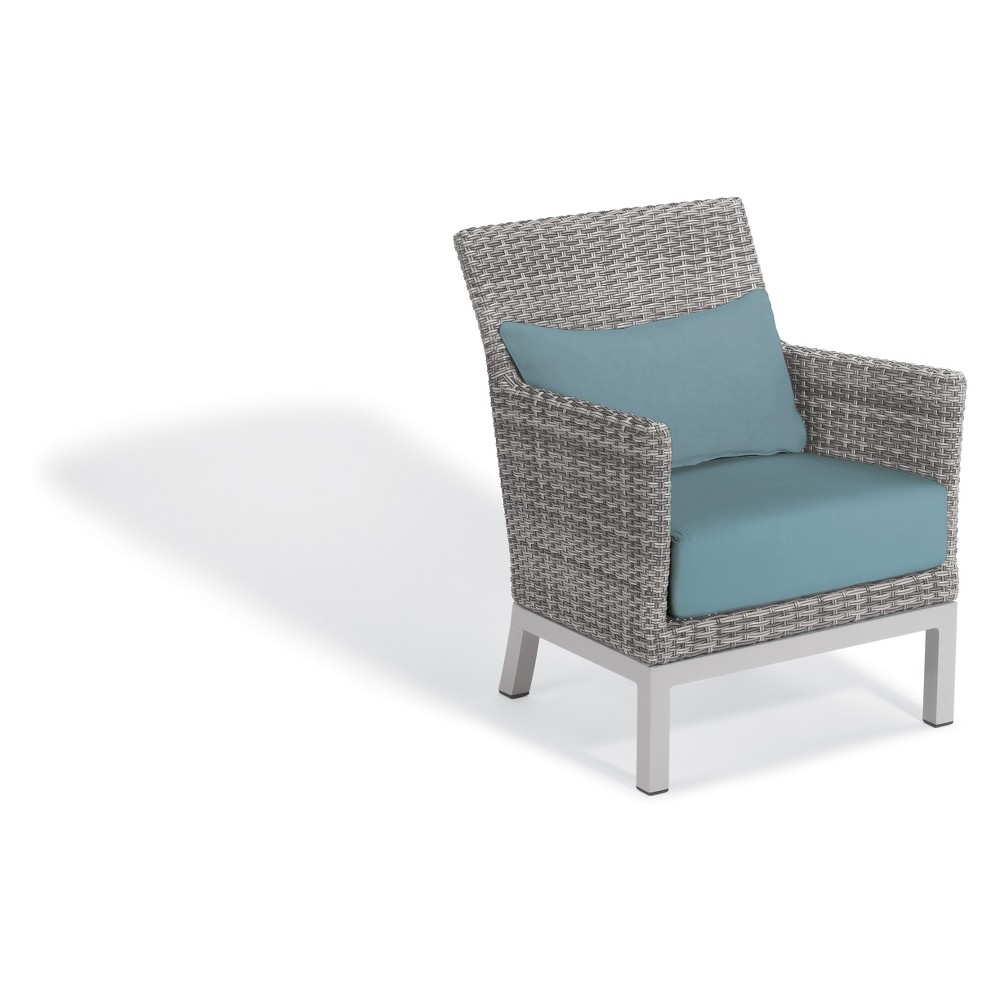 Set of 2 Argento Club Chair with Lumbar Pillow Ice Blue - Oxford Garden