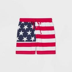 Men's Striped Americana Pajama Shorts