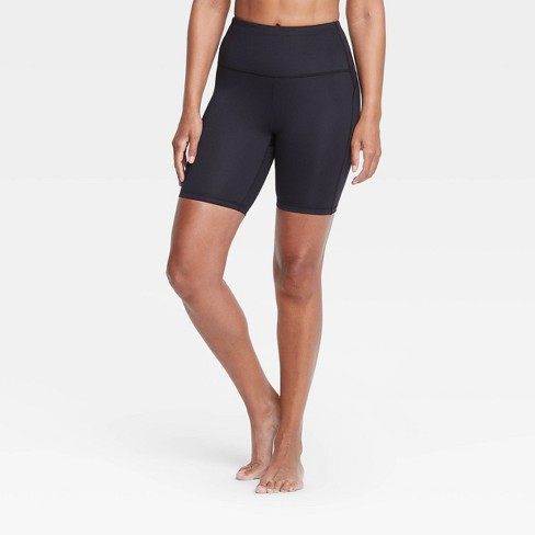 """Women's Contour Curvy High-Rise Shorts 7"""" - All in Motion™ Black - image 1 of 4"""
