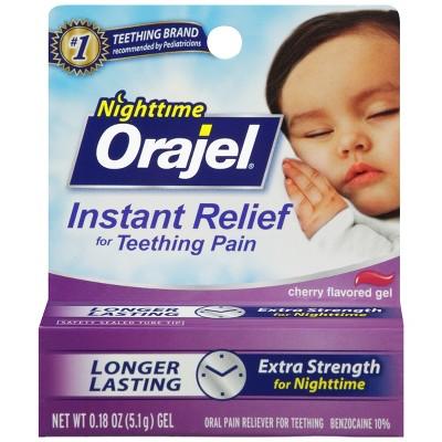 Orajel Nighttime Teething Gel- .18oz