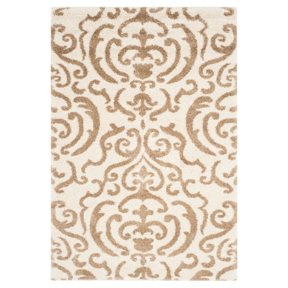 Cream/Beige Abstract Loomed Area Rug - (8'6x12') - Safavieh, Ivory/Beige