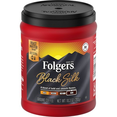 Folgers Black Silk Small Can Dark Roast Coffee - 10.3oz