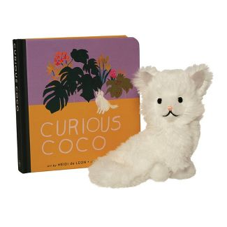 The Manhattan Toy Company Mini Cat Stuffed Animal and Board Book Gift Set