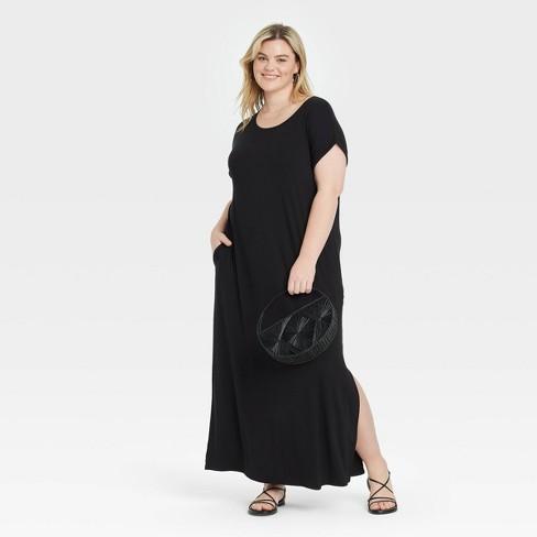 Women's Plus Size Short Sleeve Knit Dress - Ava & Viv™ - image 1 of 3