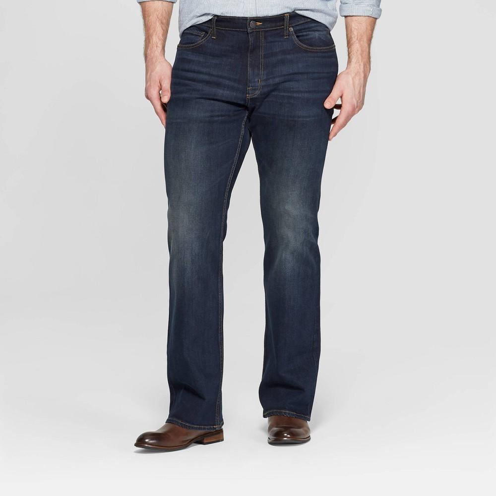 Men's Big & Tall 32 Bootcut Jeans - Goodfellow & Co Dark Blue 54x32